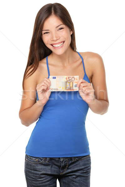 Euro bill woman Stock photo © Ariwasabi