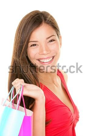 Shopper woman holding shopping bags Stock photo © Ariwasabi