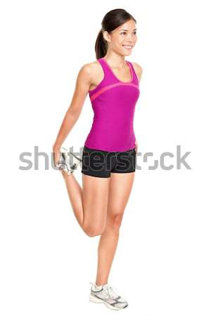 Stock photo: Fitness woman stretching full body