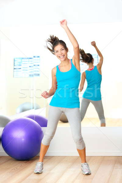 Gym aerobics zumba fitness dance instructor Stock photo © Ariwasabi