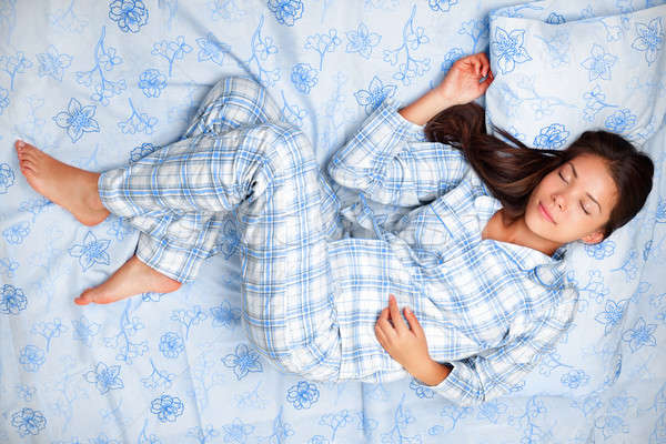 Photo stock: Femme · dormir · lit · dormir · beauté · pyjama