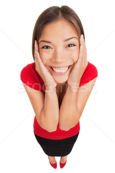 Happy woman overcome with joy Stock photo © Ariwasabi