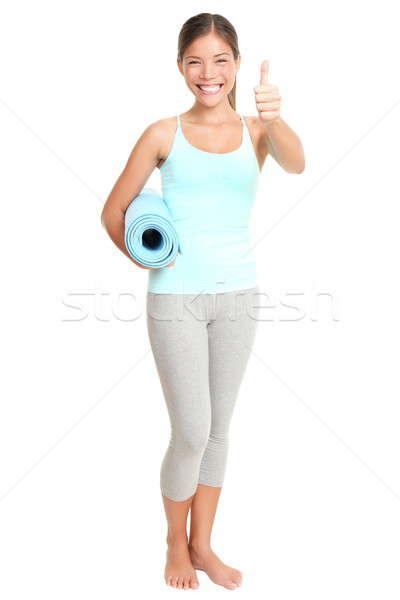 Zdjęcia stock: Kobieta · fitness · sukces · podpisania · stałego