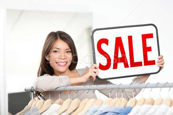 Shop owner sale sign Stock photo © Ariwasabi