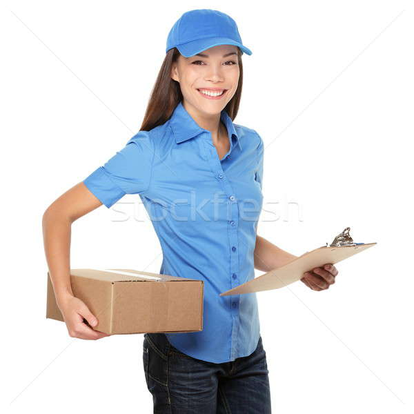 Stock photo: Delivery person delivering package