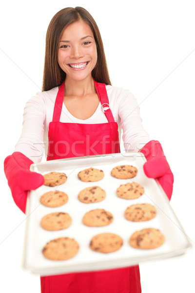 Woman baking cookies isolated Stock photo © Ariwasabi