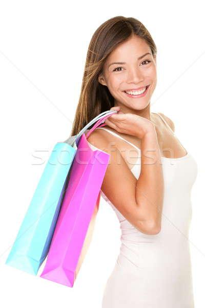 Winkelen vrouw klant meisje Stockfoto © Ariwasabi