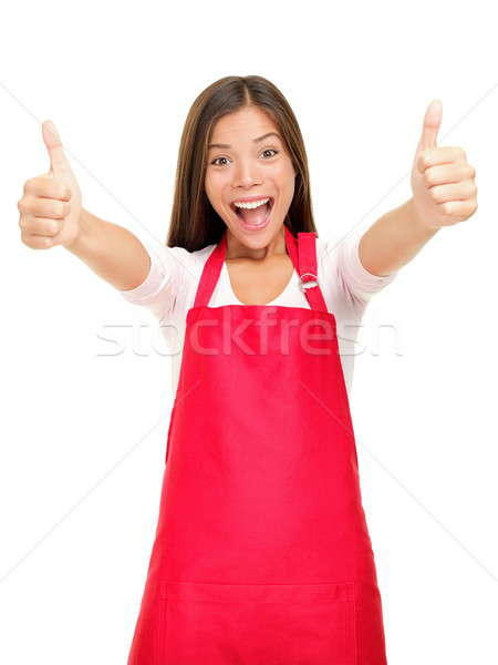 Happy small business owner excited Stock photo © Ariwasabi