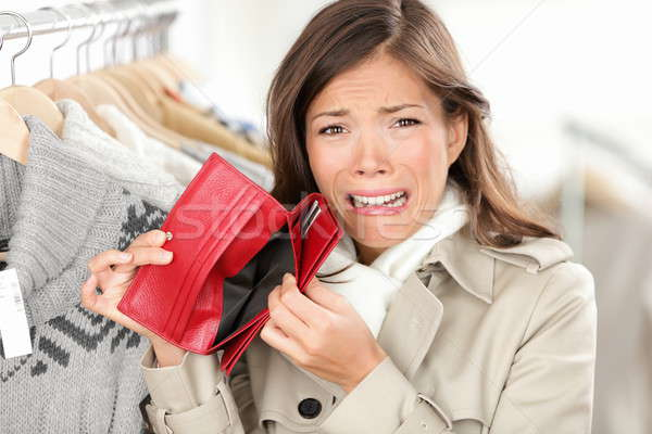 empty wallet - woman with no money shopping Stock photo © Ariwasabi