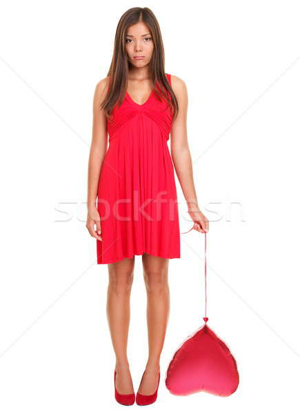 Stock photo: Unhappy love - funny valentines day woman