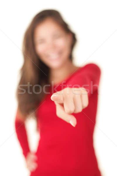 Pointing woman Stock photo © Ariwasabi