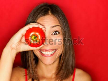 Tomato woman Stock photo © Ariwasabi