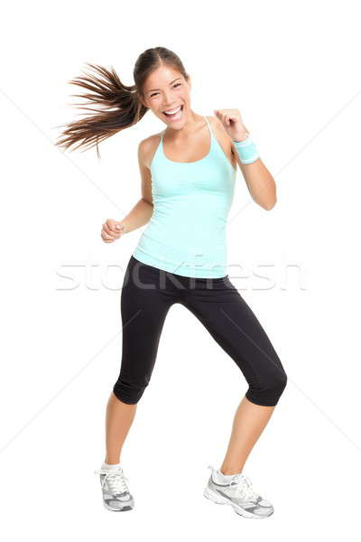 Zumba fitness trainer woman dancing Stock photo © Ariwasabi