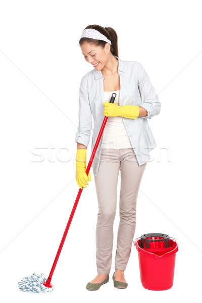 Stock photo: Spring cleaning woman