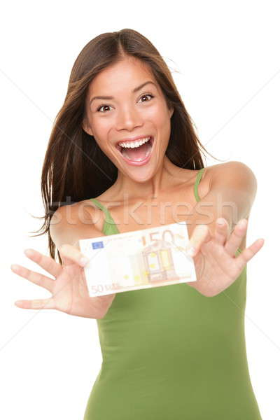Euro money woman Stock photo © Ariwasabi
