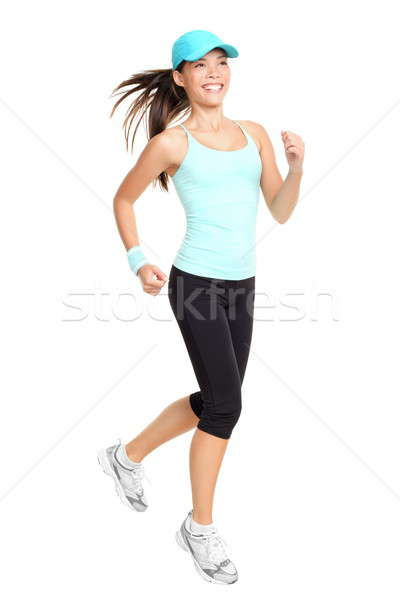 Stock photo: Running woman isolated