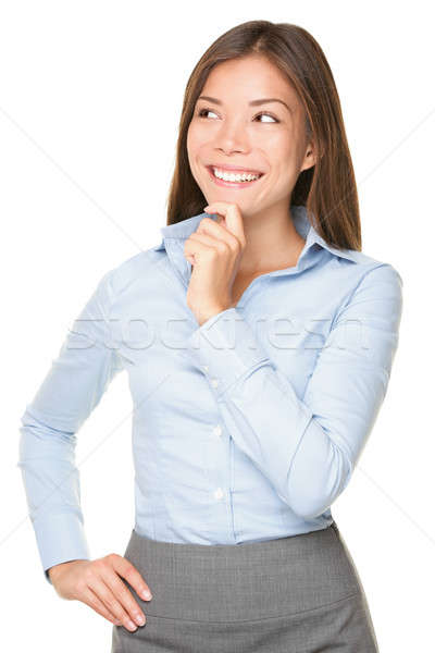 Stock photo: Thinking Asian Businesswoman