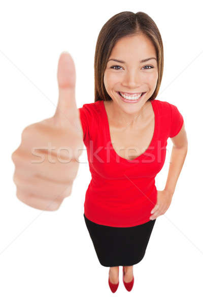 Mujer aprobación muestra de la mano gesto sonriendo Foto stock © Ariwasabi