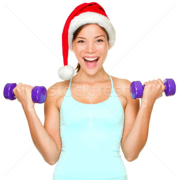 Fitness christmas woman training Stock photo © Ariwasabi