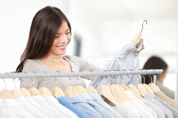Shopper woman shopping clothes Stock photo © Ariwasabi