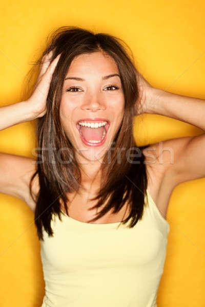 Amusement fille jeunes joyeux belle Photo stock © Ariwasabi