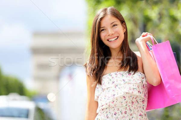 Paris shopping woman Stock photo © Ariwasabi