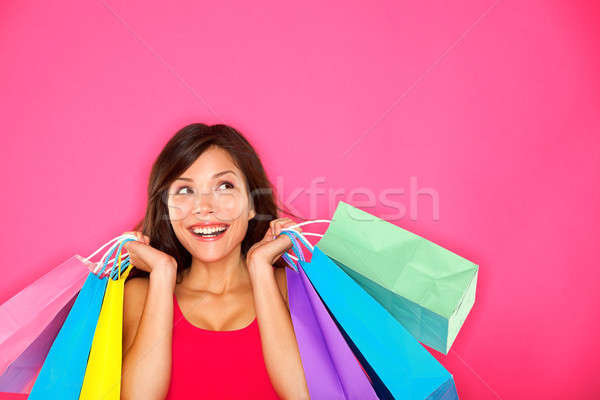 Shopping woman holding shopping bags Stock photo © Ariwasabi