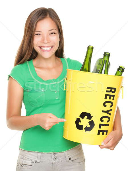 Recycle girl Stock photo © Ariwasabi