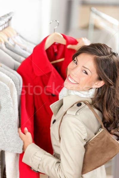 Stock fotó: Vásárlás · nő · ruházat · bolt · vásárló · néz