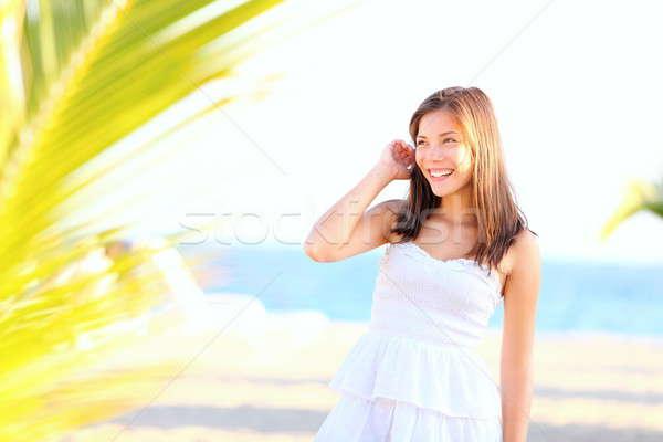 Stock photo: Summer girl on beach