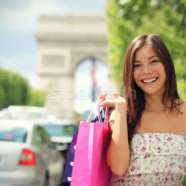 Stock photo: Paris Shopping Woman