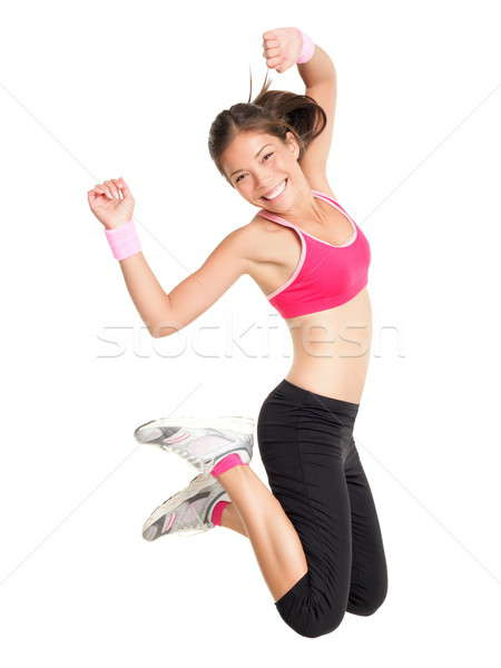 Weight loss fitness woman jumping Stock photo © Ariwasabi