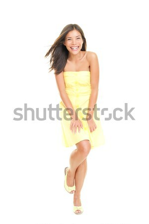 Stock photo: summer dress woman cute