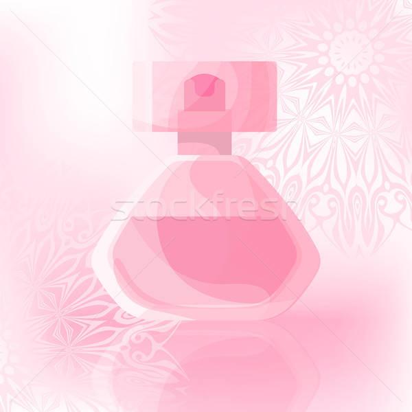 şişe parfüm nazik süsler moda cam Stok fotoğraf © Arkadivna