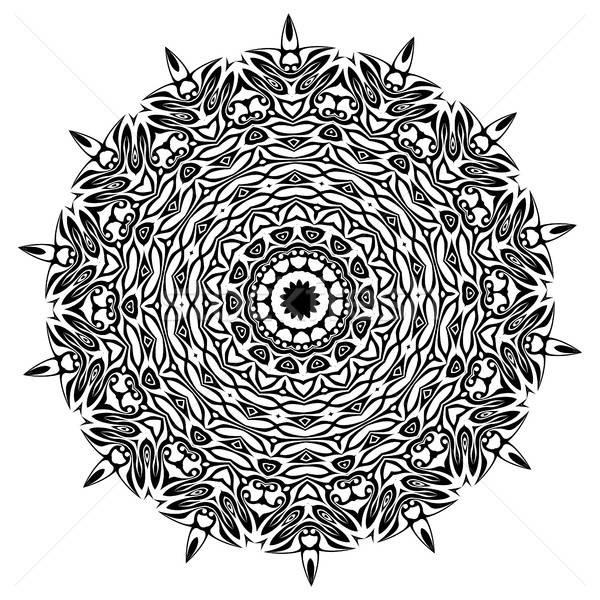 Mandala etnik dekoratif elemanları bağbozumu Stok fotoğraf © Arkadivna
