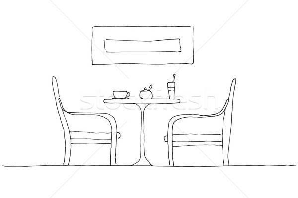 Kettő asztal bögre üveg cukor tál Stock fotó © Arkadivna