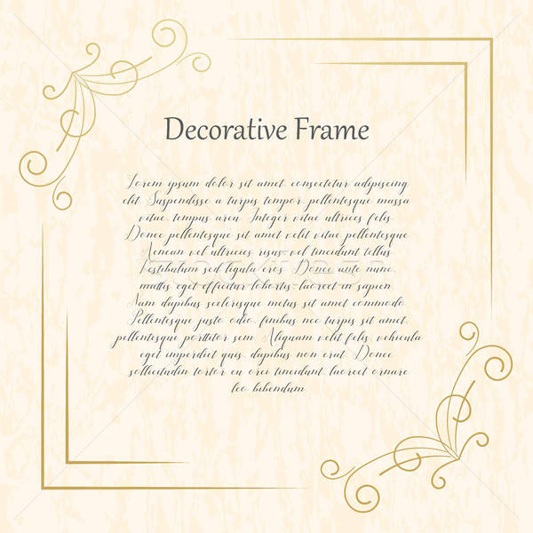 Vintage gold frame on a textural background. Vector illustration. Stock photo © Arkadivna