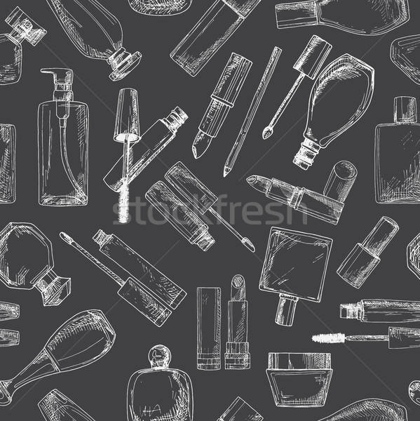 Cosmetica mascara room schets stijl Stockfoto © Arkadivna