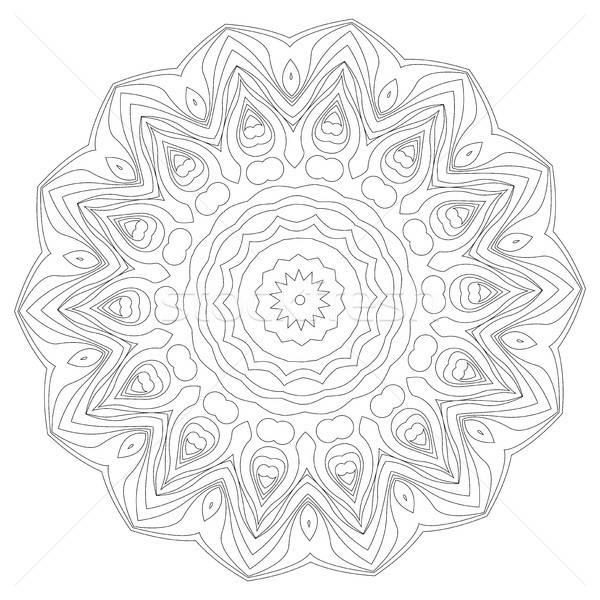 Mandala étnico decorativo elementos vintage Foto stock © Arkadivna