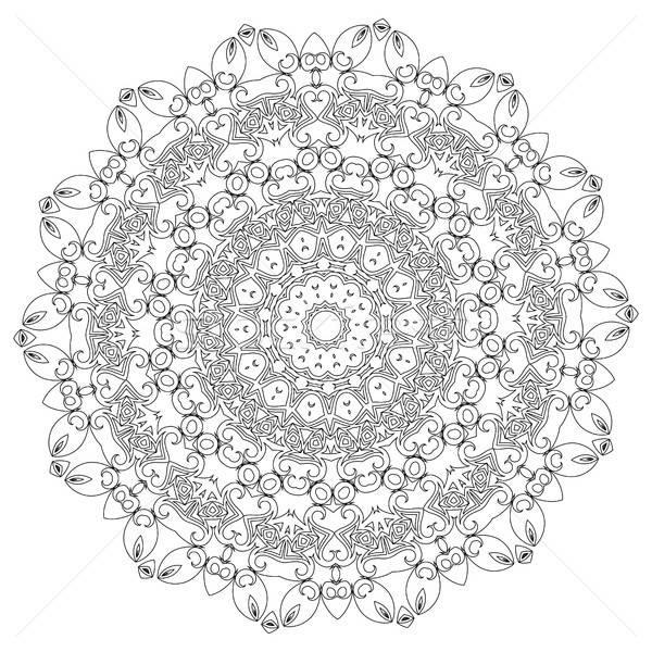 Mandala ethnischen dekorativ Elemente Jahrgang orientalisch Stock foto © Arkadivna