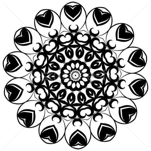Mandala. Ethnic decorative elements. Vintage decorative elements. Oriental pattern illustration. Isl Stock photo © Arkadivna