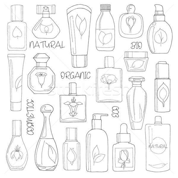 Conjunto cosméticos naturalismo eco bio isolado Foto stock © Arkadivna