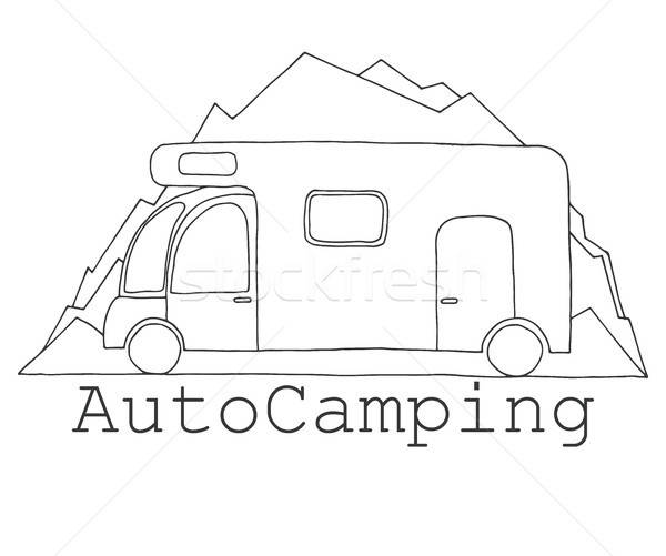 Camper on a background of mountains. Stock photo © Arkadivna