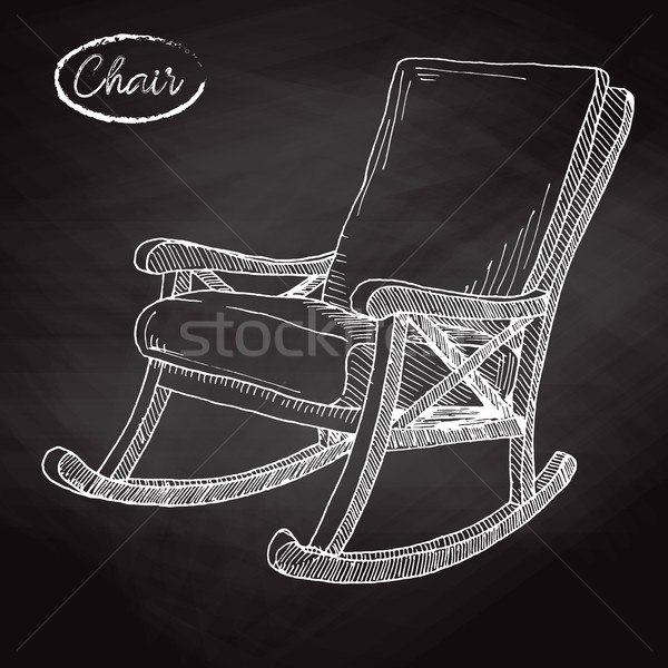 Rocking chair. Sketch a comfortable chair. Vector illustration. Stock photo © Arkadivna