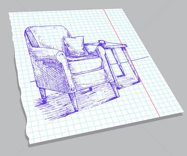 Esboço interior caderno folha macio Foto stock © Arkadivna