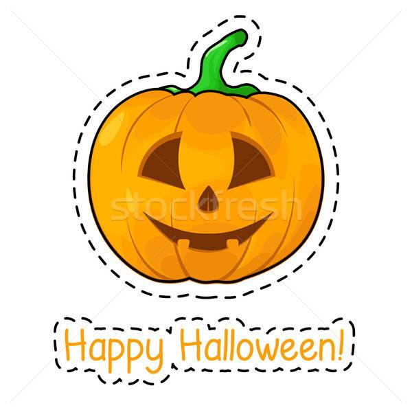 Matrica halloween tök boldog halloween háttér művészet Stock fotó © Arkadivna