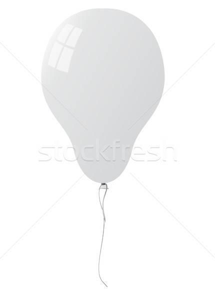 Blanche ballon isolé fête amour heureux Photo stock © Arkadivna