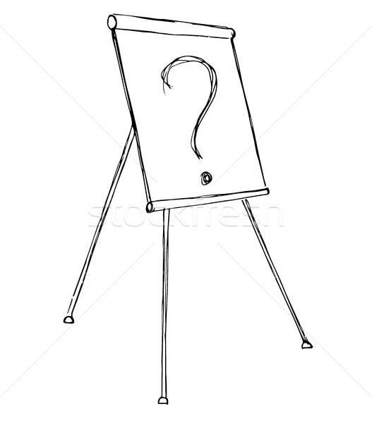 Diagram izolált fehér rajz vektor üzlet Stock fotó © Arkadivna