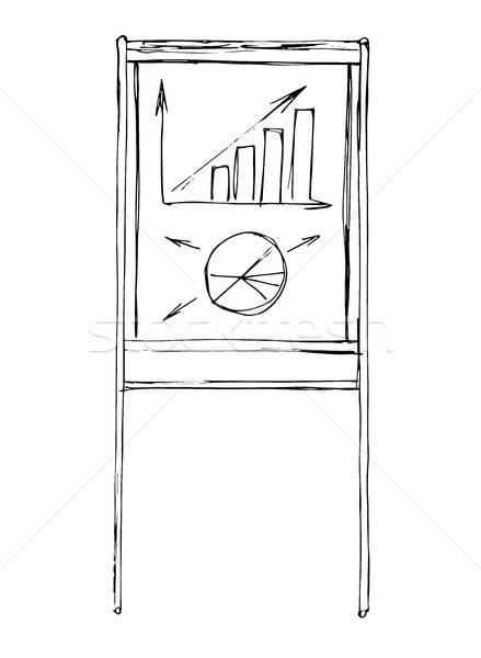 Flip chart isolated on white background. Sketch. Vector Stock photo © Arkadivna