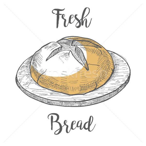 буханка хлеб совета эскиз стиль Сток-фото © Arkadivna